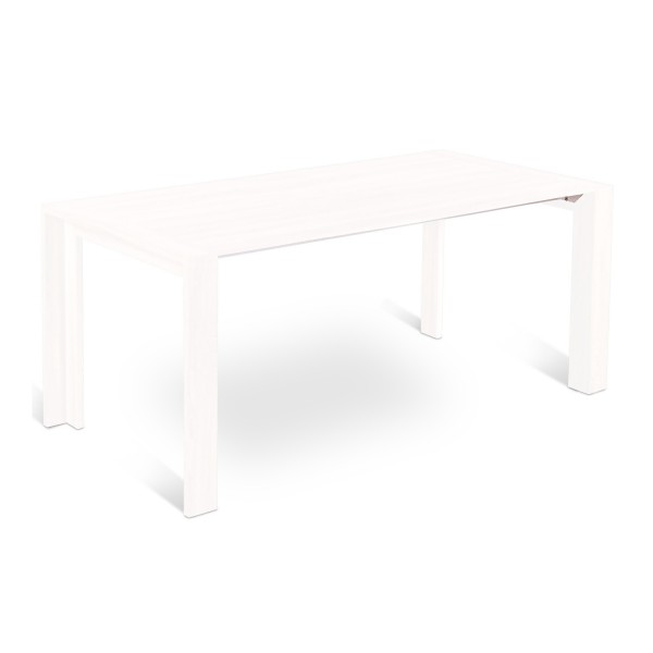 Table revetement laqu blanc console extensible for Table blanche extensible