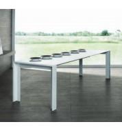 Table à manger extensible laquée blanche 180/270cm