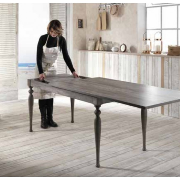 Table console extensible bois massif salle manger for Table a manger console extensible