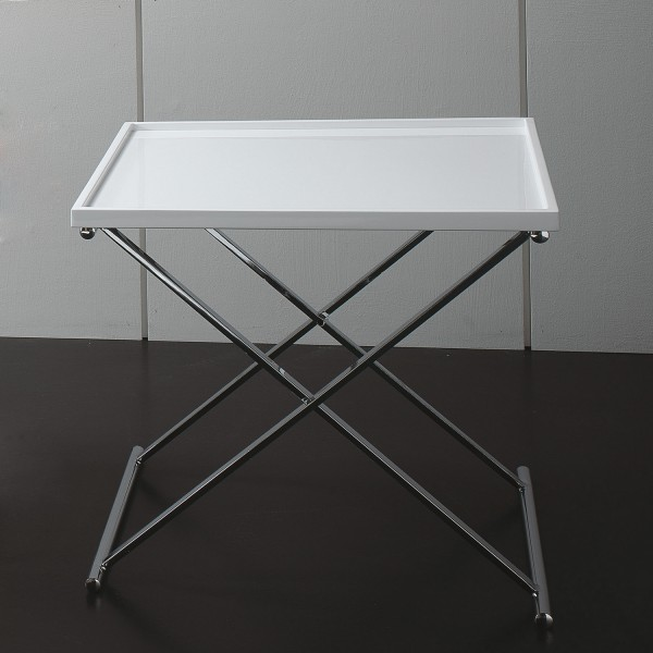 Table basse carr e refermable table basse design blanche for Table design blanche