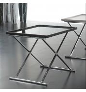 Table basse design carrée noire