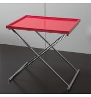 Table basse carrée design rouge