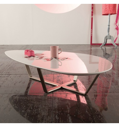 Fabriquer table basse ovale for Table ovale design