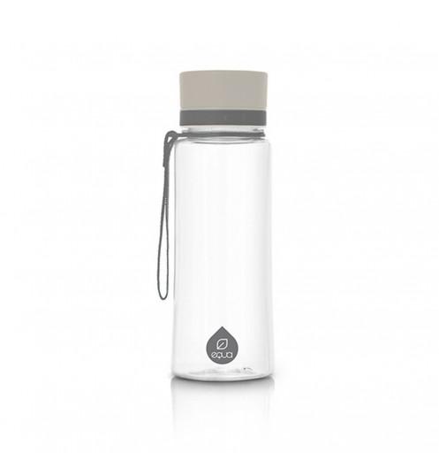 bouteille transparente r utilisable grise bouteille r utilisable equa. Black Bedroom Furniture Sets. Home Design Ideas