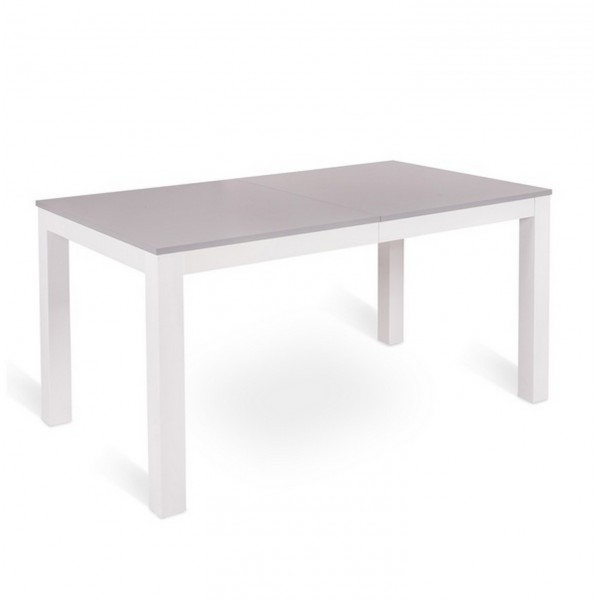 Table console extensible console solide en m lamine for Table a manger blanche extensible