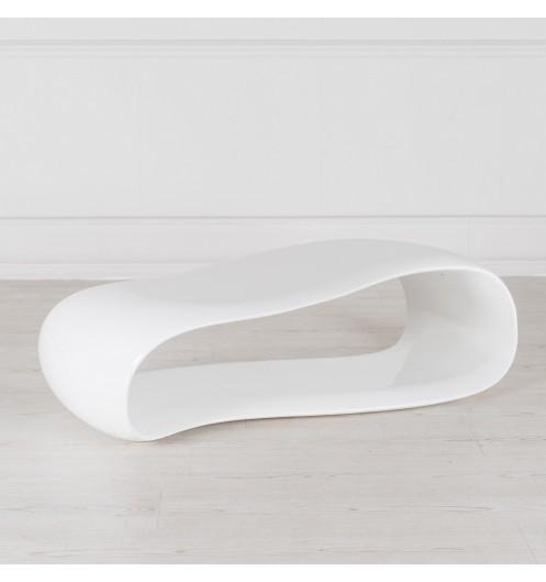 Table basse blanche originale table basse design avec plateau ondul - Table basse blanche design ...