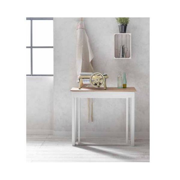 Table Blanche Extensible Finest White Comet Extensible Table White