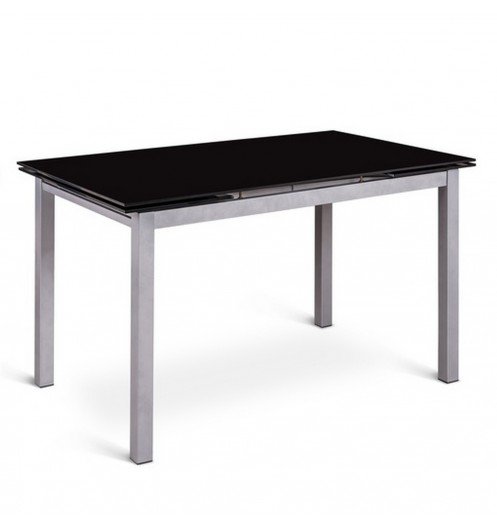 Table extensible en verre console extensible design for Table a manger a rallonge design
