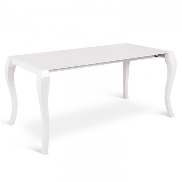 Table carree blanc laque avec rallonge tables de salle a for Table carree extensible blanc laque