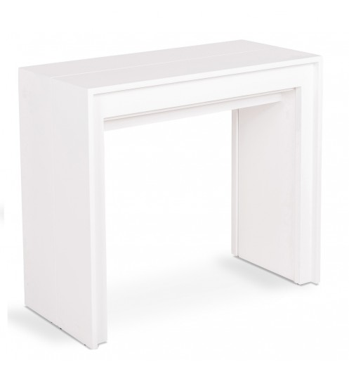 Table console extensible blanche transformable en table - Table console extensible blanche ...