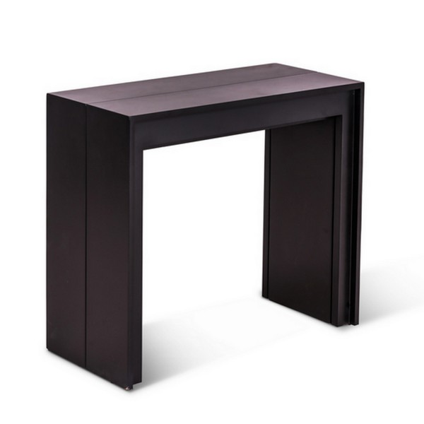Table extensible noire maison design for Table extensible console