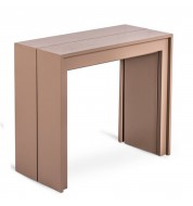 Table console extensible marron