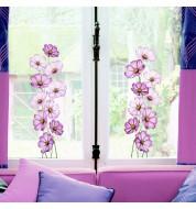 Sticker fenetre fleurs rose x2 Caselio