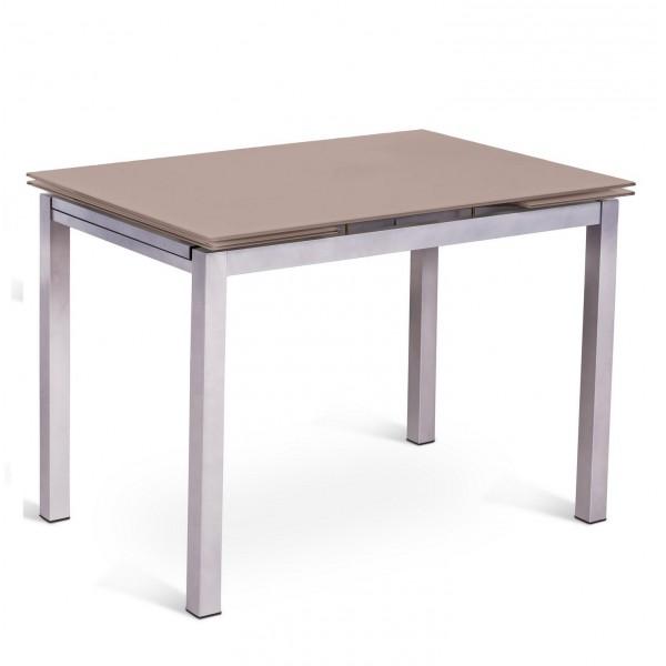 table extensible marron console design. Black Bedroom Furniture Sets. Home Design Ideas