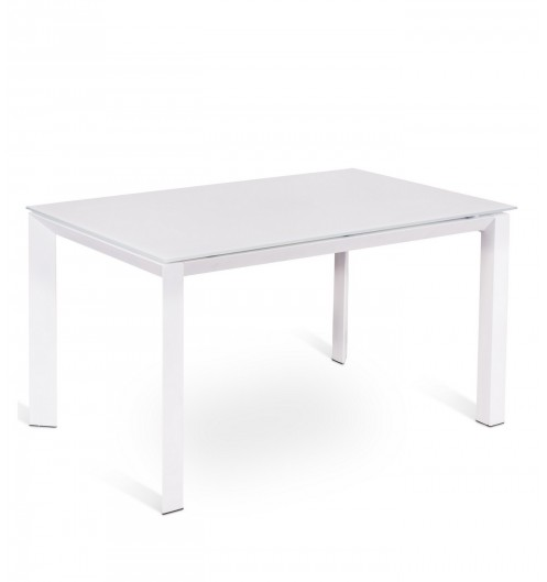 Console blanche extensible table blanche for Table a manger blanche