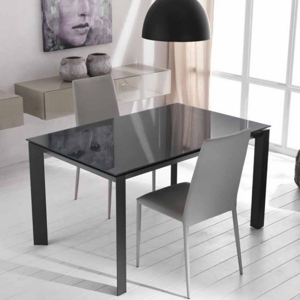 table console grise console extensible tendance. Black Bedroom Furniture Sets. Home Design Ideas