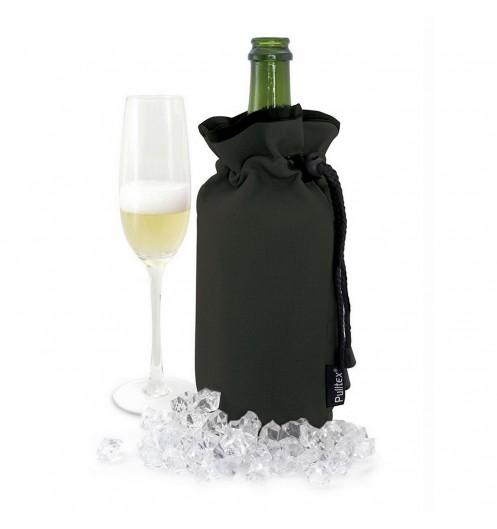Top Sac isotherme bouteille - sac à vin noir avec cordonc DC27