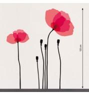 Stickers muraux Fleurs roses