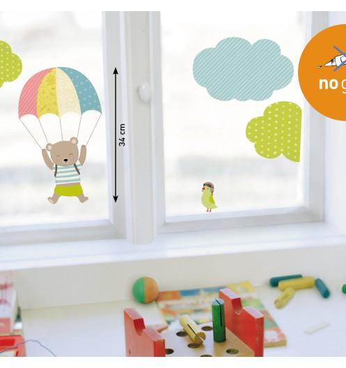 Stickers fenetre enfant stickers vitre color s for Stickers pour fenetre cuisine