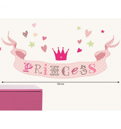 Stickers chambre enfant rose stickers chambre fille princesse - Tickers chambre fille princesse ...
