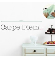 "Sticker mural ""Carpe diem..."" Tranfert d'art"