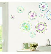 Sticker mural assiettes céramiques XL Caselio