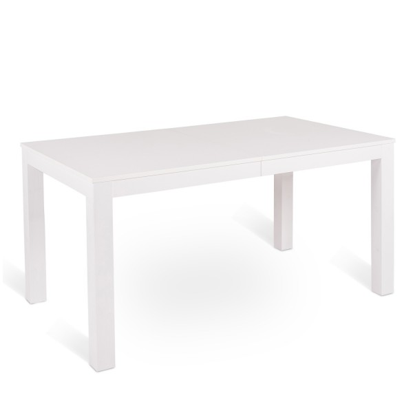 Table extensible blanche table salle a manger bois for Table a manger blanche