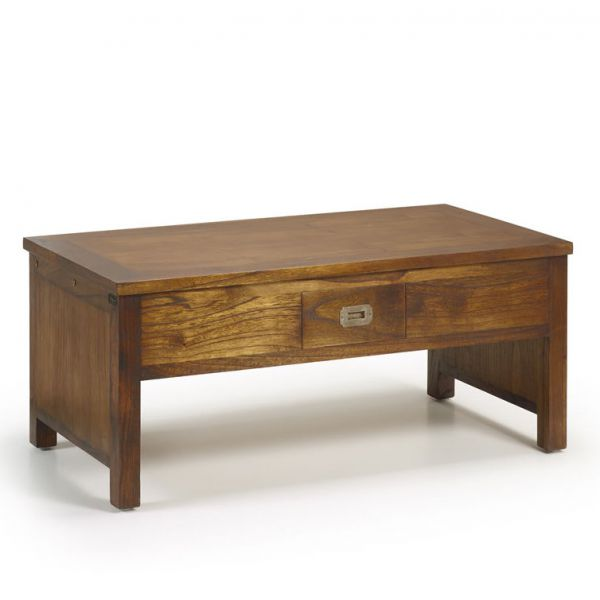 Table basse relevable en bois 110 cm salon - Table basse relevable bois ...