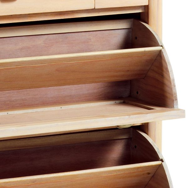 Meuble chaussures en bois massif 2 portes deco et saveurs - Portes en bois massif ...