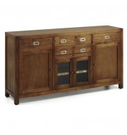 Buffet en bois 5 tiroirs + 4 portes