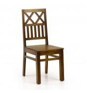 Chaise bois double croix