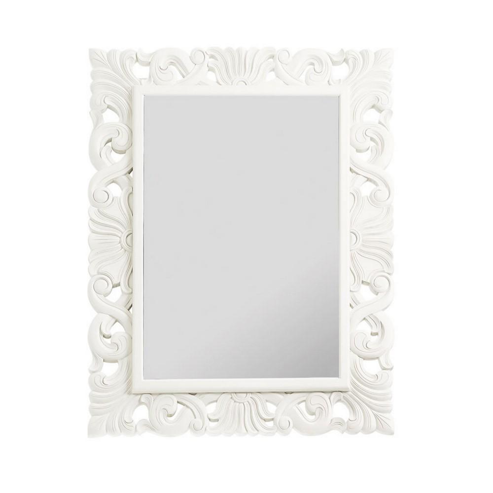 Miroir Cadre Blanc Laque
