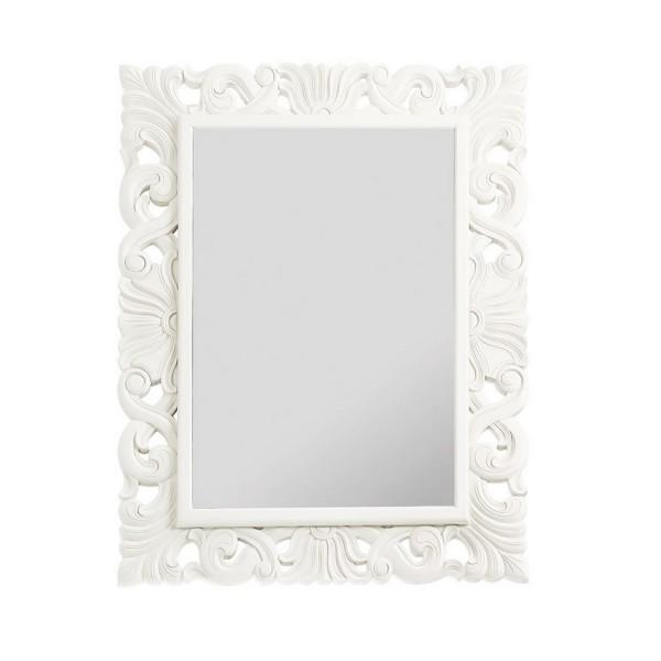 miroir vintage blanc laqu 90x110cm - Blanc Laque