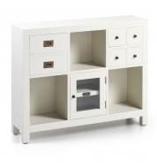 Console d'entrée blanche 6 tiroirs