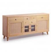 Buffet vaisselle en bois 6 tiroirs + 4 portes