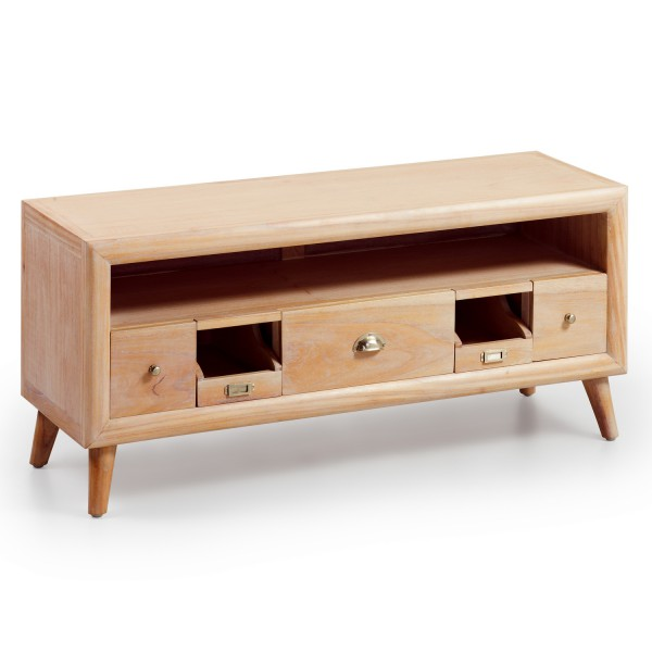 Meuble salon meuble t l scandinave for Meuble 5 tiroirs