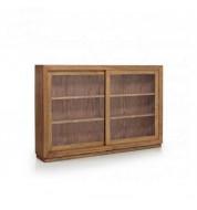 Vaisselier en bois  2 portes + 2 étagères