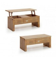 Table basse relevable en bois