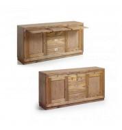 Vaisselier en bois avec plateaux rétractables