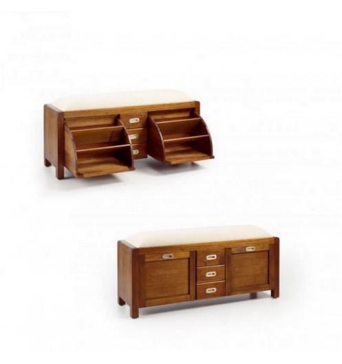 Meuble a chaussure en bois meuble chaussures avec rangements - Deco meuble bois ...