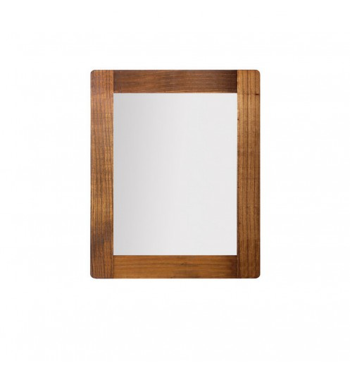 Miroir marron en bois miroir chambre ou salon for Miroir 80x100