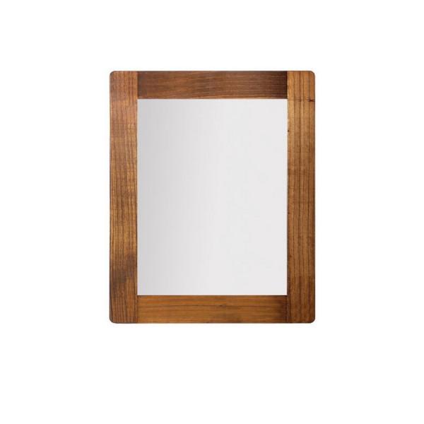 Miroir marron en bois miroir chambre ou salon for Miroir bois salon