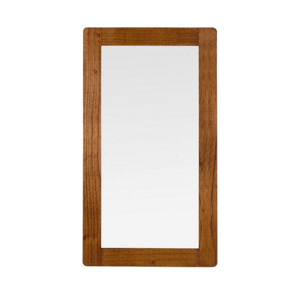 Grand miroir en bois miroir salon marron for Miroir marron