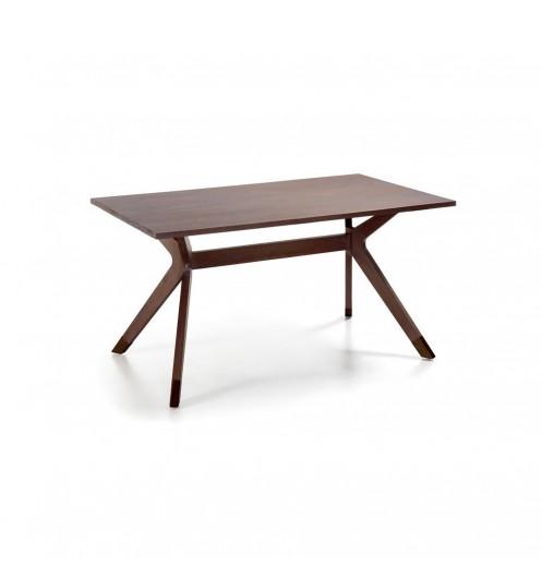 Table de salle a manger table de sejour en bois for Salle a manger marron