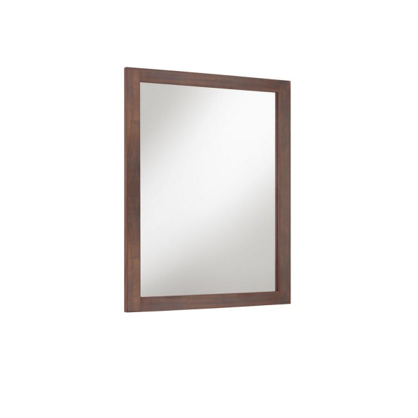 Miroir mural en bois grand miroir marron for Miroir mural en bois
