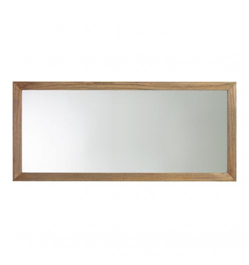 Grand miroir en bois for Miroir marron