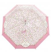 Parapluie rose et blanc Libre Derrière la porte