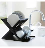 Egouttoir vaisselle noir deux niveaux Yamazaki