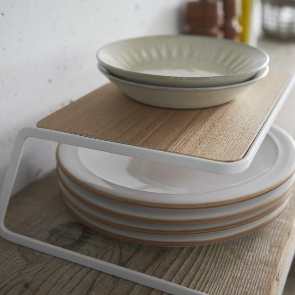 Plateau en bois rangement vaisselle en bois for Rangement vaisselle cuisine