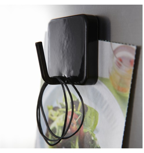 accroche torchon magn tique noir accroche cl magn tique. Black Bedroom Furniture Sets. Home Design Ideas